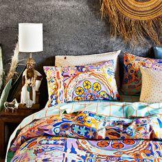 Gorgeous fall bedding!
