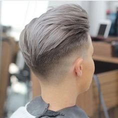 Deep Grey hair color for men