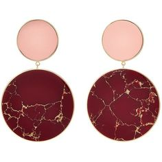 Joanna Laura Constantine 'Monochrome Statement' disc drop earrings (24.755 RUB) ❤ liked on Polyvore featuring jewelry, earrings, red, red jewelry, statement drop earrings, disc earrings, red earrings and joanna laura constantine jewelry