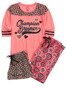 Cheetah Heart Pajama Set