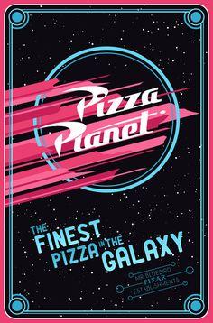 Pizza Planet ~ Toy Story ~ Minimal Movie Poster by Mario Graciotti ~ Pixar Establishments Film Pixar, Pixar Movies, Disneyland, Disney Love, Disney Magic, Pizza Planet, Business Poster, Disney Posters, Movie Posters