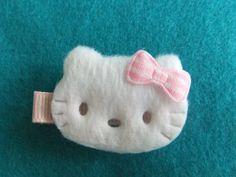 Hello Kitty felt hair clip