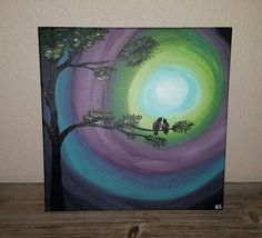 Check out this item in my Etsy shop https://www.etsy.com/listing/267205302/love-birds-painted-canvas
