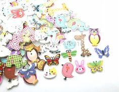 Free shipping  100pcs Mixed 2 Holes pattern cartoons Wood Sewing Buttons Scrapbooking  D2267-in Buttons from Home & Garden on Aliexpress.com   Alibaba Group