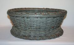 Spinner's Painted Basket From Pennsylvania, c1850. Wonder if they used this for equipment or to hold rollags?