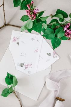 Botanical Watercolor Wedding Invitations #weddinginvitations