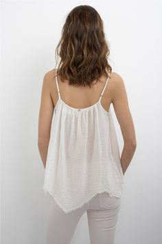 CAILIN COTTON GAUZE CAMI | @andwhatelse Jean Outfits, Fashion Outfits, Velvet Tees, Natural Clothing, Summer Outfits, Summer Clothes, Striped Tee, Mix Match, Passion For Fashion