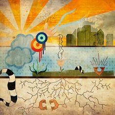 Amanecer Caótico  Pintura digital impresa sobre lienzo Edición limitada de 10 piezas