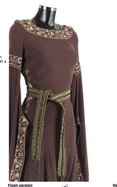 """Silver Screen 12th Century!  This the wedding dress worn by Uma Thurman as Maid Marian in the British """"Robin Hood"""" from 1991"""