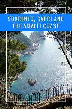 Sorrento, Capri and the Amalfi Coast are bucket list-worthy destinations in Italy. How to enjoy a visit down the Amalfi Coast of Italy. European Vacation, Italy Vacation, European Travel, Vacation Destinations, Italy Trip, Italy Tours, Bucket List Destinations, Cinque Terre, Positano