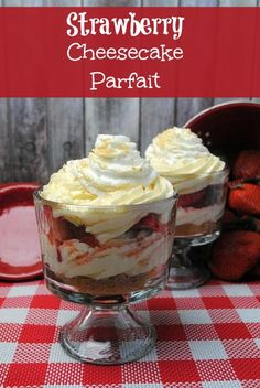 Strawberry cheesecake parfait