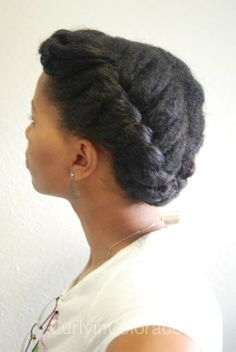 Curly in Colorado: Protective Style: Flat Twist UpDo