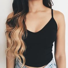 Riley V-Neck Crop Top (Black)
