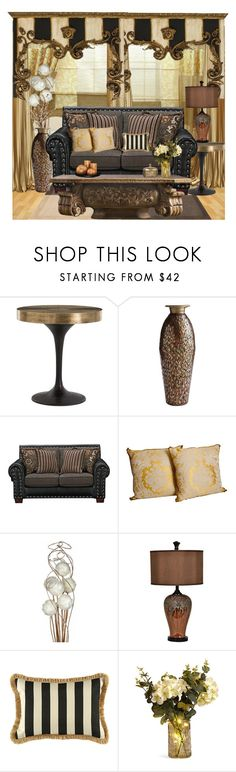 """""""Eclectic Formal"""" by mysfytdesigns ❤ liked on Polyvore featuring interior, interiors, interior design, home, home decor, interior decorating, Arteriors, Pier 1 Imports, Fulton and Crestview Collection"""