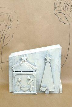 Primitive Wooden Nativity by kijsa, $32
