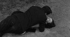 Marcello Mastroianni and Jeanne Moreau in La notte (1961)