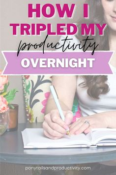 I tripled my productivity overnight - if you're not already using the pomodoro technique, you're going to want to learn this method. Productivity Hacks | Productivity Tips Self Development, Personal Development, Pomodoro Method, Time Management Strategies, Building Self Esteem, Productivity Hacks, How To Stop Procrastinating, Body Love, Work From Home Moms