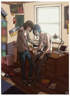 Max and Chloe. I still have to play the last chapter of the game, I'm kind of scared of the way it could end. D: