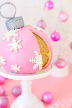DIY Giant Pink Ornament Cake