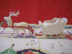 Vintage Hard Plastic Christmas Candy Container by VintageBarrel, $15.99