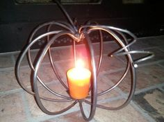 Round Rod Pumpkin Candle Holder (Welding Projects)