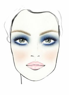 Smoke eyes with inky blue shadows complemented with a sweet pink lip. #SephoraPantone