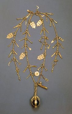 Gold chain with 53 pendants, Roman, ca 380 A.D.