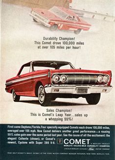 Vintage Trucks vintage car ads from the Vintage Advertisements, Vintage Ads, Funny Vintage, Vintage Designs, Vintage Photos, Mercury Cars, 1964 Ford, Ad Car, American Classic Cars