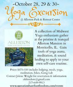 Yoga Excursion at Allerton Park Monticello, ILFall 2016