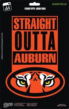 Straight Outta Auburn Tigers War Eagle Football Logo Decal Vinyl Sticker Car Truck Window Laptop by DiamondDecalz