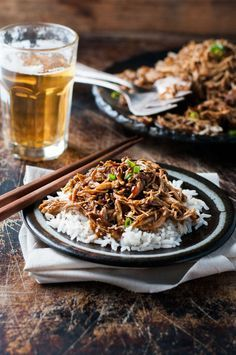 Sweet Soy Shredded Chicken - 5 minutes prep, make this in the slow cooker, stove or even a pressure cooker! Tossed in an Asian style sticky sauce.