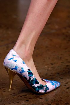 @Peter_Som x @tabithasimmons shoes on the Spring 2013 runway.