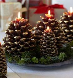 Manualidades navidad original con adornos de corcho -