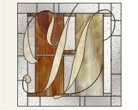 Letter H doubled up two fonts for the letter H in this stained glass pattern []$2.00 | PDQ Patterns