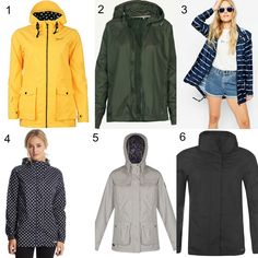 It's wet. It's muggy. Money is tight. Cute summer rain jackets for less than £30.