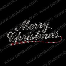 Wholesale 50Pcs/Lot Free Shipping Bling Merry Christmas Hot Fix Iron On Letter Rhinestone Patterns Free Custom Design(China (Mainland))