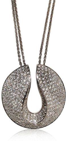 GABRIELLE'S AMAZING FANTASY CLOSET | Antonini | White Full Pave Diamonds Necklace