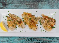 Such an easy recipe! Flounder fillets are topped with a seasoned lemon-butter and bread crumb topping and are then baked for 30 minutes.