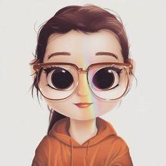 Kawaii Girl Drawings, Bff Drawings, Cute Girl Drawing, Cartoon Drawings, Cartoon Art, Cute Love Gif, Cute Cartoon Girl, Human Drawing, Cute Girl Wallpaper