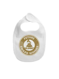 The rockstar lifestyle can get a little messy! Protect your little ones with this 56th Grammys Infant My 1st Grammy Awards Bib!