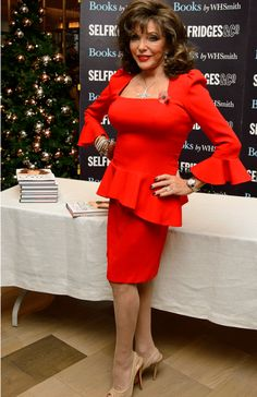 At Joan Collins is a tad older than the SoSensational demographic but she is such an iconic glamour-puss, we thought we would make an exception Sexy Older Women, Sexy Women, Dame Joan Collins, Lily Collins, Talons Sexy, Little Red Dress, Ageless Beauty, Nyc, In Pantyhose