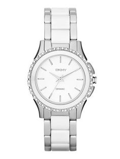 DKNY Watch, Women's White Ceramic and Rose Gold Ion-Plated Stainless Steel Bracelet - Watches - Jewelry & Watches - Macy's Stainless Steel Watch, Stainless Steel Bracelet, Hugo Boss Watches, Ladies Watches, Women's Watches, Fashion Watches, Marc Jacobs Watch, Armani Watches, Ceramic Jewelry