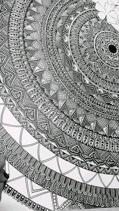Zentangle Patterns, Mandala Pattern, Mandala Design, Mandala Drawing, Mandala Art, Drawing Challenge, Drawing Techniques, Character Drawing, Henna Designs