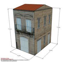 Model 1448: Edificio in Plaza de San Cosme (Ourense, Spain)