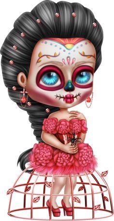 Dark Alice In Wonderland, Cute Pictures, Beautiful Pictures, Pastel Goth Art, Gothic Wallpaper, Sugar Skull Art, Sugar Skulls, Flower Phone Wallpaper, Voodoo Dolls