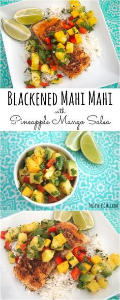 Enjoy spicy flavors with alight and refreshing taste. This Blackened Mahi Mahi and Pineapple Mango Salsa is there perfect fish recipe for summer.