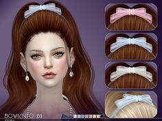 The Sims Resource - Bowknot by S-Club for The Sims 4 Sims 4 Mac, Sims Cc, Sims 4 Game Mods, Sims Mods, Sims 4 Mods Clothes, Sims 4 Clothing, Sims 4 Black Hair, The Sims 4 Cabelos, Pelo Sims