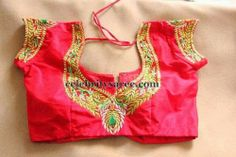 Stones and Gold Work Blouses | Saree Blouse Patterns