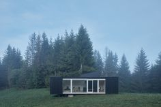 North Slovakia's Into the Wild Cabin, a prefab low-tech Ark Shelter, offers immersive views of the natural world - and a hidden jacuzzi. Into The Wild, Jacuzzi, Natur House, Prefab Cabins, Wood Cabins, Journal Du Design, Off Grid Cabin, Sleeping Under The Stars, Off The Grid