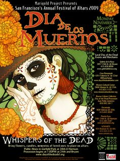 San Francisco Dia de Los Muertos Poster 2009 on Behance